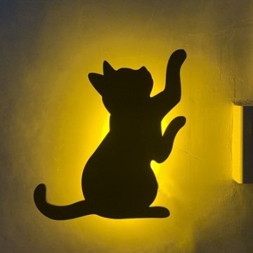 Lumewnous LED Cat Reaching Up Shape Induction Night Light