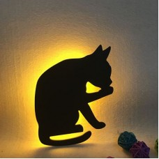 Lumewnous LED Cat Grooming Shape Induction Night Light
