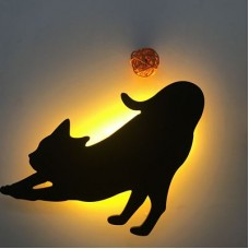 Lumewnous LED Cat Streching Shape Induction Night Light