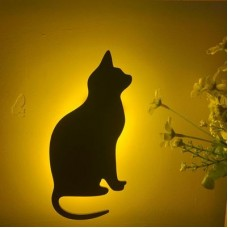 Lumewnous LED Cat Sitting Shape Induction Night Light