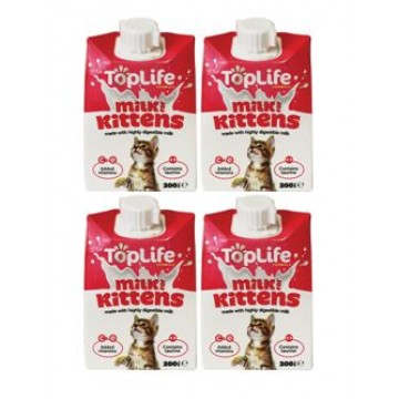 TopLife Kittens Milk 200ml (4 Packs)