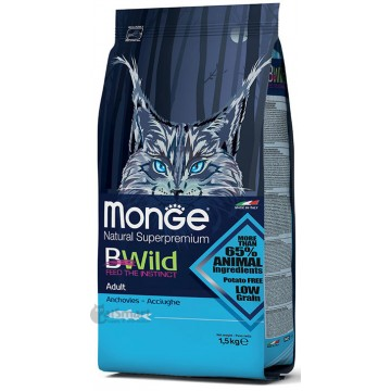 Monge Natural Superpremium BWild Adult with Anchovies 1.5kg