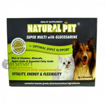 Natural Pet Super Multi with Glucosamine (30 Sachets)