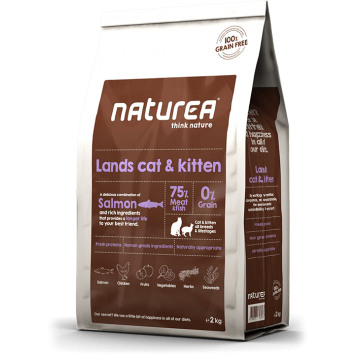 Naturea Grain Free Salmon, Chicken and Herring for Cats and Kittens 7kg
