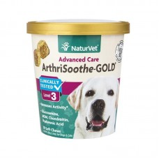 NaturVet ArthriSoothe-Gold Level 3 for Cats and Dogs - 70 Soft Chews