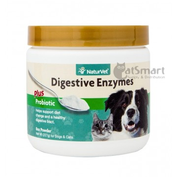 NaturVet Digestive Enzymes Plus Probiotic Powder 227g