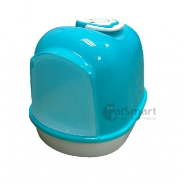 Cat Litter Box Closed With Mesh (L) Blue