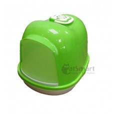 Cat Litter Box Closed With Mesh (M) Green