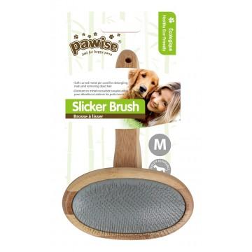Pawise Premium Bamboo Slicker Brush Medium