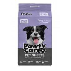Pawty Care Pet Sheets Small 100pcs (33cm X 45cm)