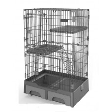 Deluxe Pet Cage Black