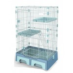 Deluxe Pet Cage Blue