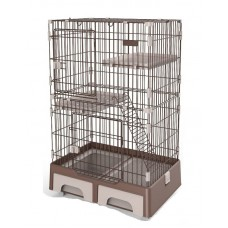 Deluxe Pet Cage Brown