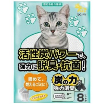 QQ Kit Paper Cat Litter Charcoal 8L (3 Packs)