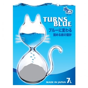 QQ Kit Paper Cat Litter Turns Blue 7L