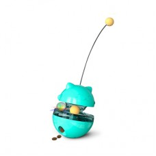 Dooee Cat Food Dispenser Tumbler Toy Turquoise