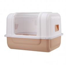 Rubeku Side-Entry Litter Box Brown