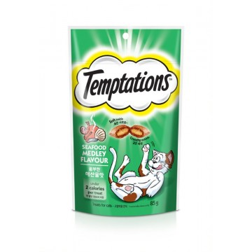 Temptations Seafood Medley Flavour 85g (3 Packs)