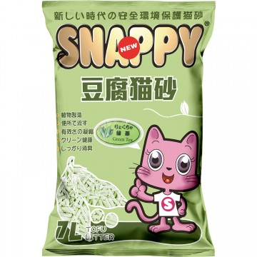 Snappy Cat Tofu Cat Litter Green Tea 7L  (6 Packs)