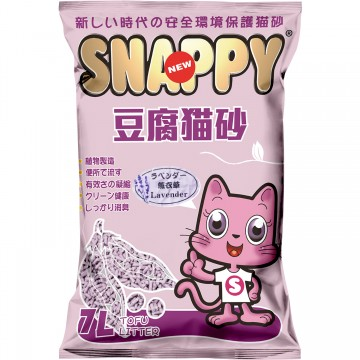 Snappy Cat Tofu Cat Litter Lavender 7L  (6 Packs)