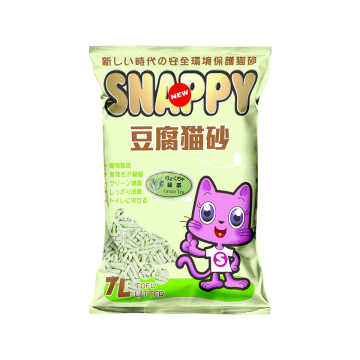 Snappy Cat Tofu Cat Litter Green Tea 7L  (6 Packs)