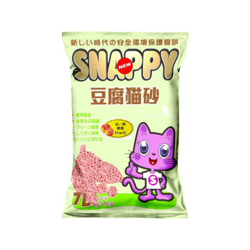 Snappy Cat Tofu Cat Litter Peach  7L (6 Packs)