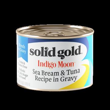 Solid Gold Indigo Moon Sea Bream & Tuna Recipe in Gravy 170g (3 Cans)
