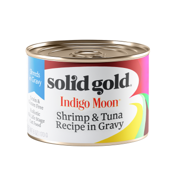 Solid Gold Indigo Moon Shrimp & Tuna Recipe in Gravy 170g (3 Cans)