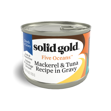 Solid Gold Five Oceans Mackerel & Tuna Recipe In Gravy 170g Carton (16 Cans)