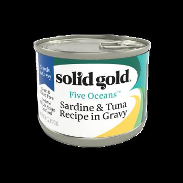 Solid Gold Five Oceans Sardine & Tuna Recipe In Gravy 170g