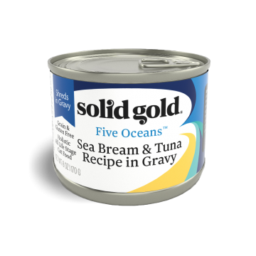Solid Gold Five Oceans Seabream & Tuna Recipe In Gravy 170g