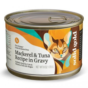 Solid Gold Five Oceans Mackerel & Tuna 170g Carton (12 Cans)