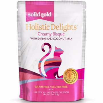 Solid Gold Creamy Bisque Pouch with Shrimp & Coconut Milk 85g Pack (12 Pouches)
