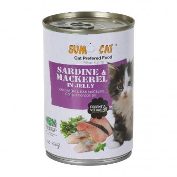 Sumo Cat Sardine & Mackerel in Jelly 400g