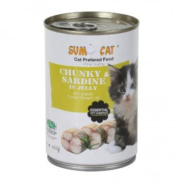 Sumo Cat Chunky Sardine in Jelly 400g Carton (24 Cans)