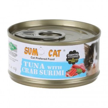 Sumo Cat Tuna with Crab Surimi 80g