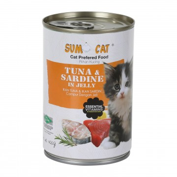 Sumo Cat Tuna and Sardine in Jelly 400g Carton (24 Cans)