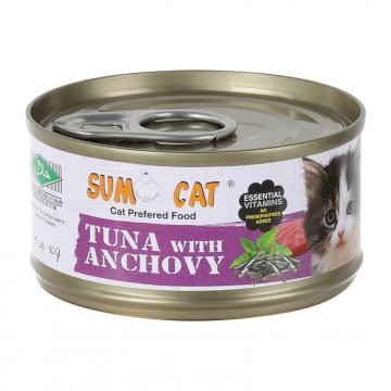 Sumo Cat Tuna with Anchovy 80g