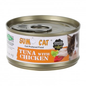 Sumo Cat Tuna with Chicken 80g Carton (24 Cans)
