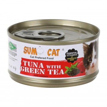 Sumo Cat Tuna with Green Tea Jelly 80g Carton (24 Cans)