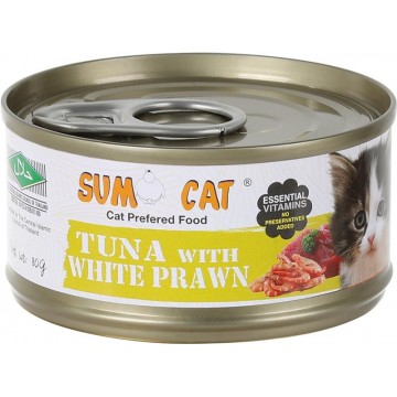 Sumo Cat Tuna with White Prawn 80g