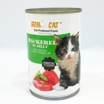 Sumo Cat Mackerel in Jelly 400g Carton (24 Cans)