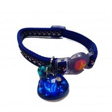 Tarky Safety Collar Flower Blue