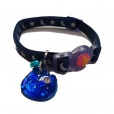 Tarky Safety Collar Blue Moon Stars Shape