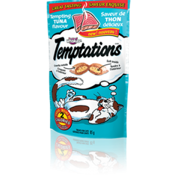 Temptations Tempting Tuna Flavour 85g  (3 Packs)