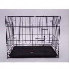 Tesoro Rod Iron Collapsible Cage 3 Feets With 2 Doors Black