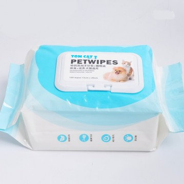 Tom Cat Pakeway Pet Wipes 100's