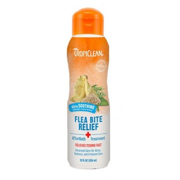 TropiClean Natural Flea & Tick Bite Relief (After Bath Treatment) 355ml