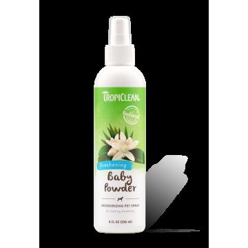 TropiClean Pet Spray Baby Powder Deodorizing (Extra Freshness) 236ml
