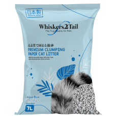 Whiskers2Tail Premium Clumping Paper Cat Litter Turns Blue 7L (4 Packs)